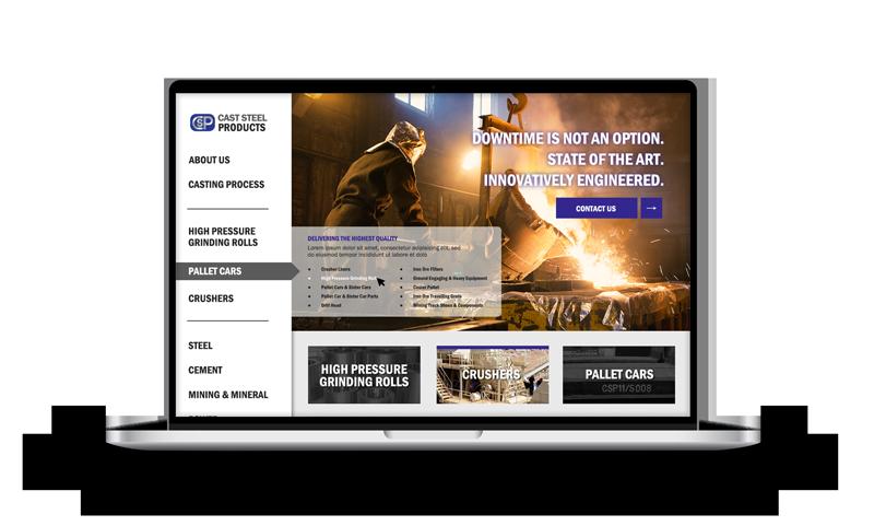 Cast Steel Products Responsive Website Rendering