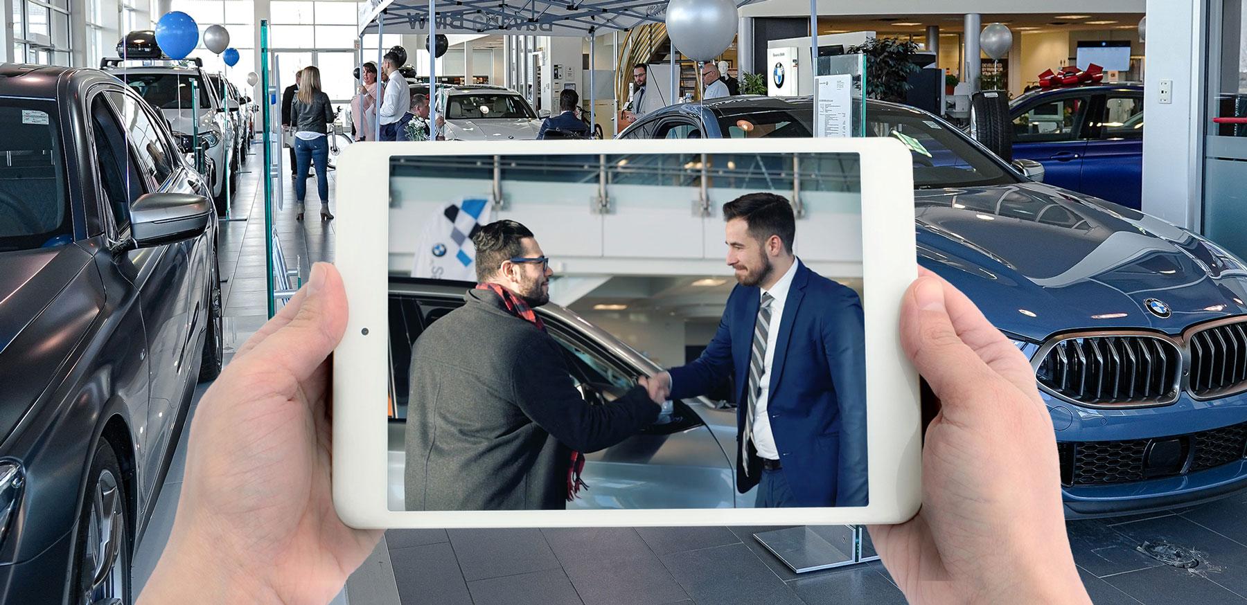 Bavaria BMW video on an iPad
