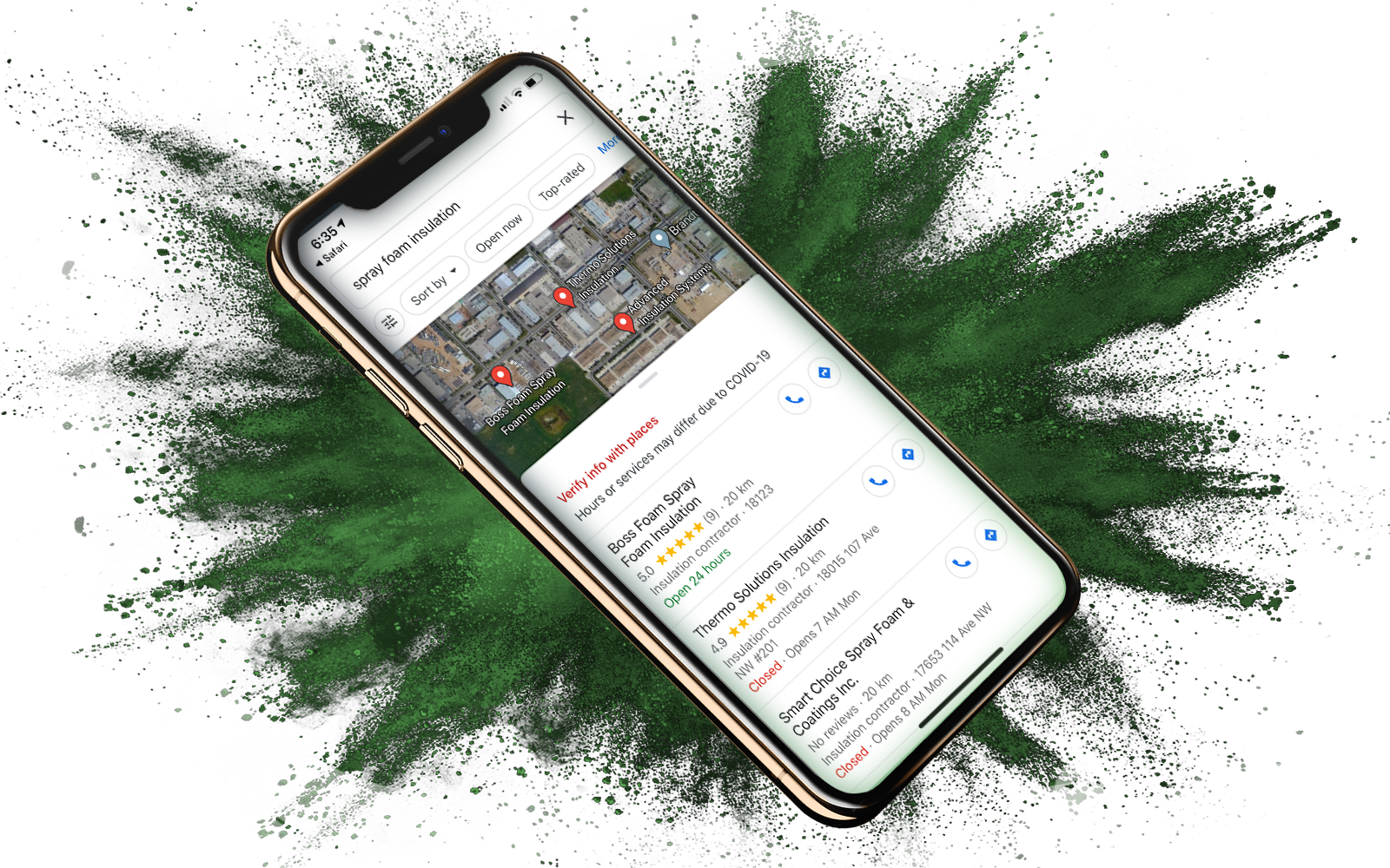 Google Maps Optimization for Thermo Solutions Insulation Inc by Magnolias