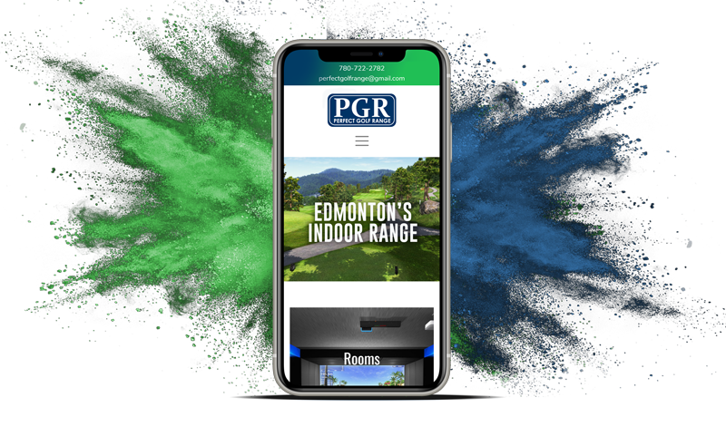 Perfect Golf Range Website Design