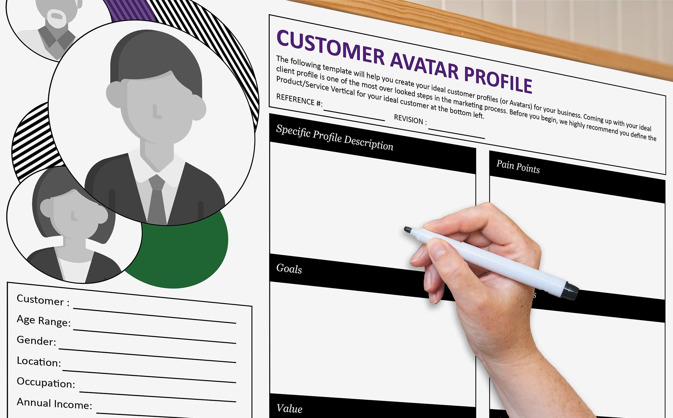 Free Customer Avatar Worksheet Rendering
