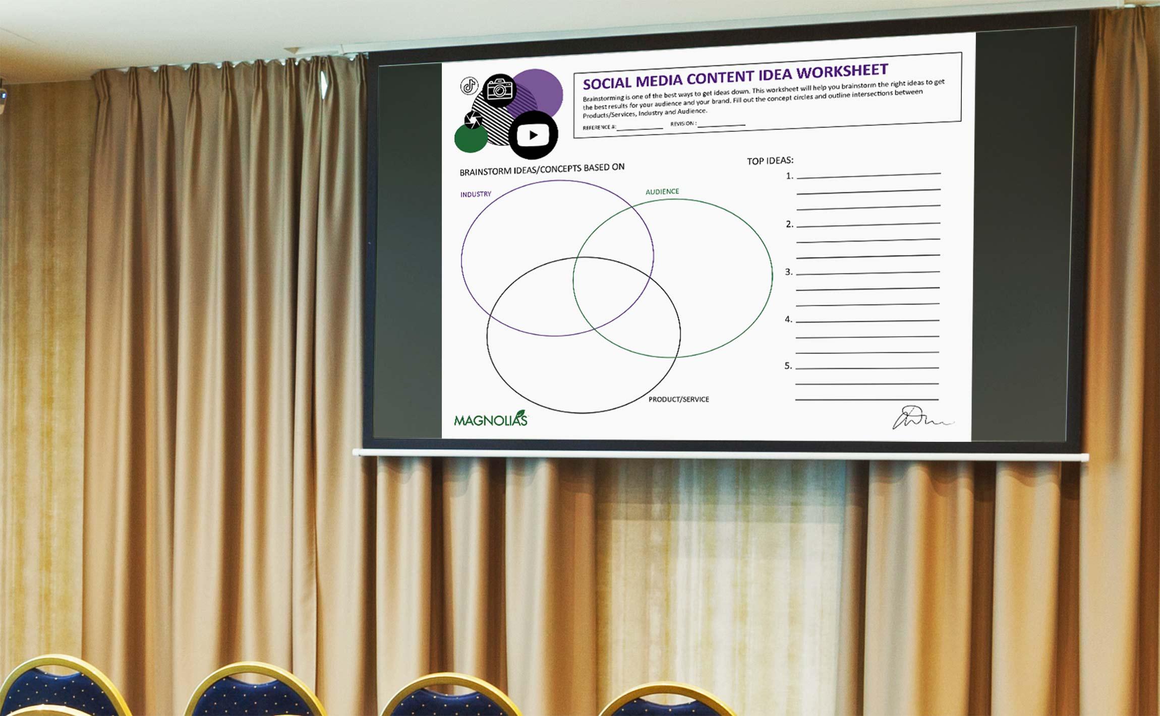 Social Media Content Planning Worksheet