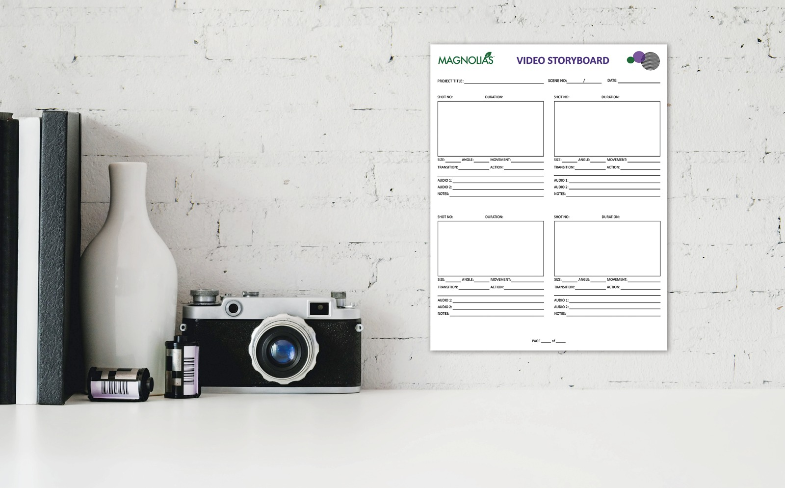 Free Video Storyboard Template Free Download Banner
