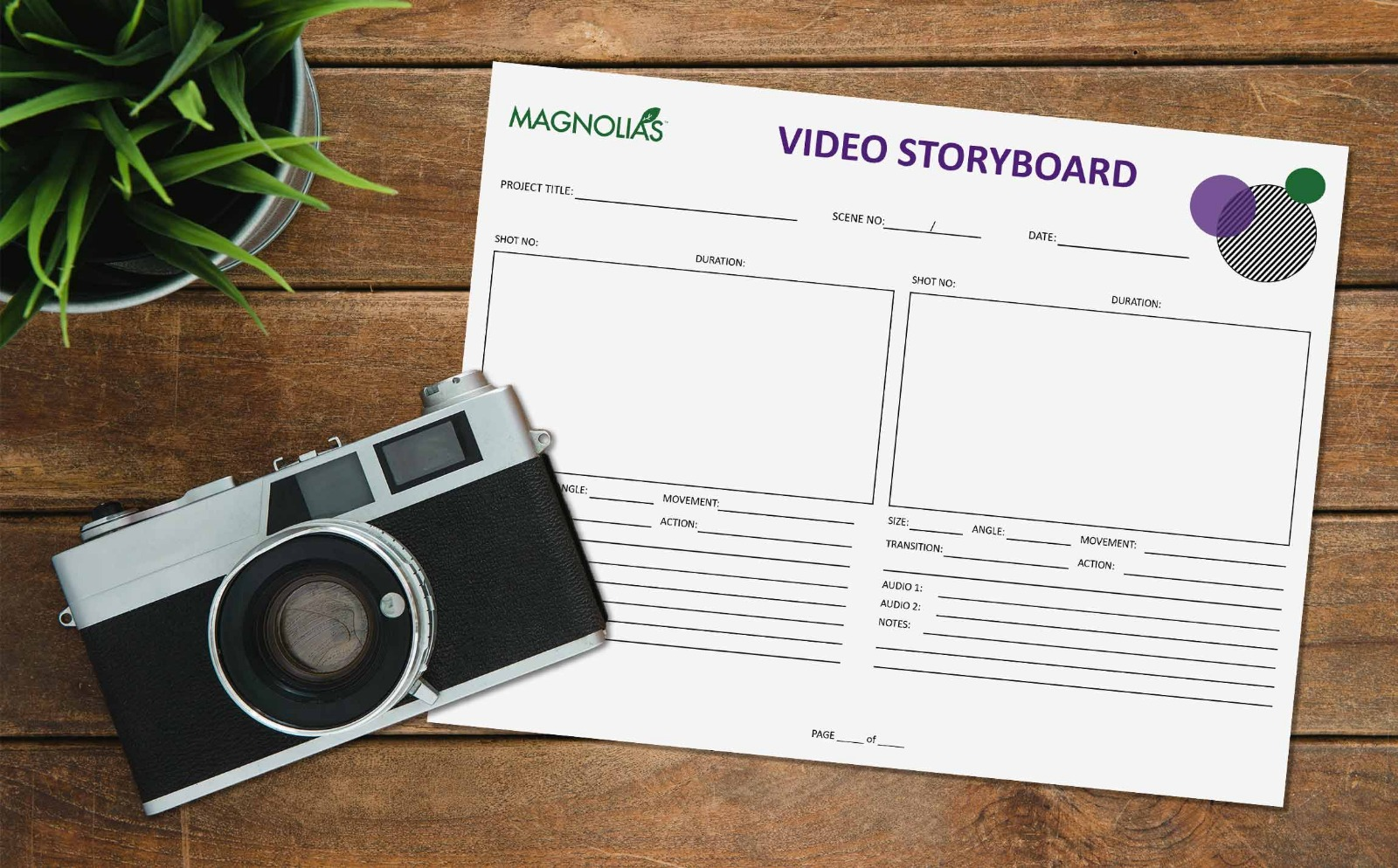 Free Video Storyboard Template